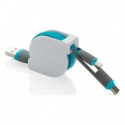Cable retractable 3 en 1